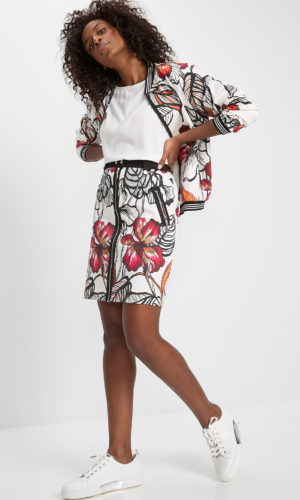 printed skirt in cotton textile