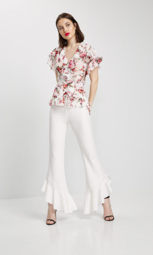 Crepe trousers
